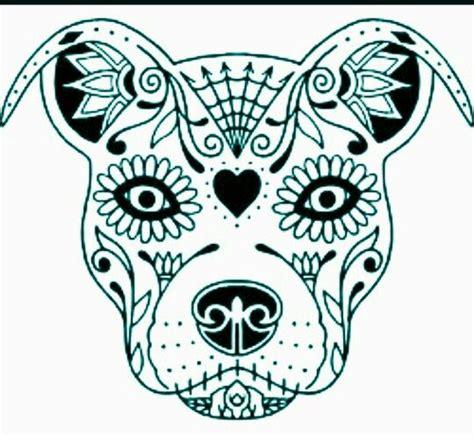 staffy sugar skull dog tattoos skull coloring pages