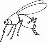 Coloring Insect Pages Mosquito sketch template