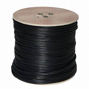 Spt 1000 Ft  Rg59 Closed Circuit Tv Coaxial Cable - Black-90s-1000b