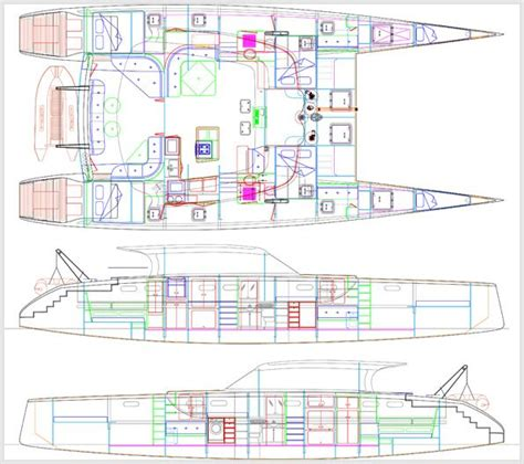Catamaran Cad Design by 113 Best Draw Cad Sketchup Boat Images On Pinterest