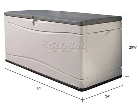 lifetime 130 gallon deck box assembly bins totes containers containers deck boxes