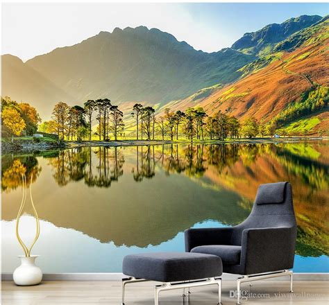 custom  size  natural scenery mural background wall