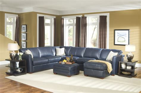 brilliant navy blue leather sectional sofa navy blue