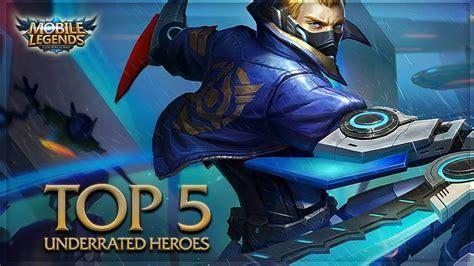 Top 5 Mejores Heroes Mobile Legends , Top