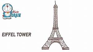 How To Draw Eiffel Tower Step By Step Youtube