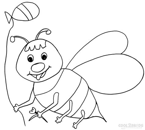 printable bumble bee coloring pages  kids coolbkids