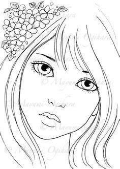 Gypsy Girl digital stamp colouring page by MayumiOgihara