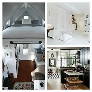 Facons d39amenager studio 45 idees interessantes for Idee deco cuisine avec lit design