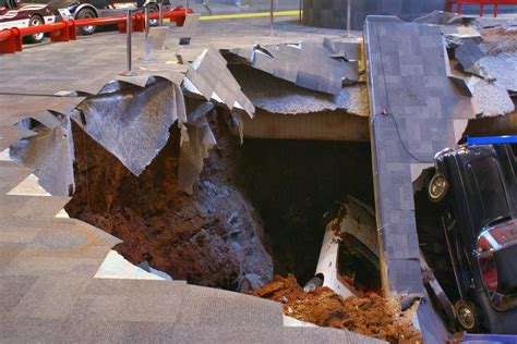 national corvette museum sinkhole photo gallery autoblog