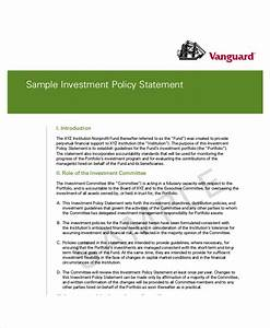 sample investment policy statement 10 examples in word pdf With sample investment portfolio templates