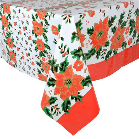 wipe clean table cloth poinsettia wipe clean pvc vinyl tablecloth table cover