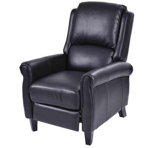 Recliner Chair by Leather Recliner Accent Chair Push Back Living Room Home