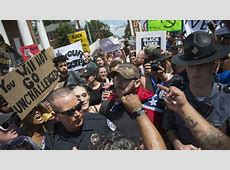 Protesters Surround KKK Gathering In Charlottesville The