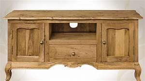 Meuble Style Louis Xv : meuble tv style louis xv bois massif fa on bois recycl ~ Dallasstarsshop.com Idées de Décoration