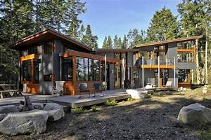 Corrugated metal siding exterior modern with ocean view