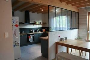cuisine equipee ouverture sur l39espace salle a manger With idee ouverture cuisine sur salon