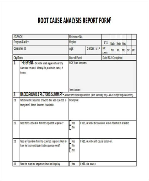 Root Cause Analysis Resume Sle by Sle Root Cause Analysis Report 28 Images 49 Analysis
