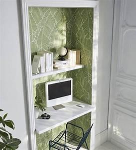 Papier Peint Bureau : 7 id es pour une d co originale avec du papier peint ~ Melissatoandfro.com Idées de Décoration