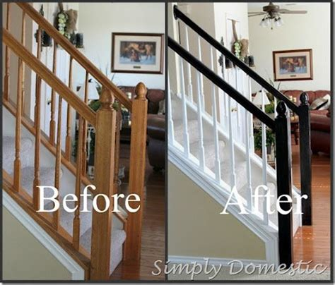 how to paint a banister black painting our banister simply domestic did it home