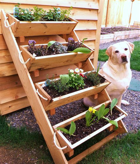 creative diy outdoor vertical garden planter boxes with 4
