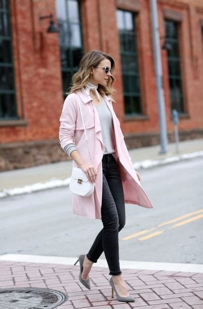 Coat Tumblr Trench Pink Denim Jeans Black