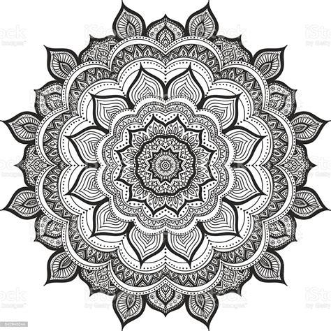 Elsa anna flowery mandala svg. Doodle Mandala Stock Illustration - Download Image Now ...