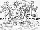 Coloring Pages Tropical Island Printable Minion Beach Holiday Landscape Minions Fun Kindergarten Activities Resort Drawing Seaside Paradise Despicable Childrens Ages sketch template