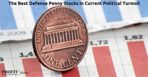 defense penny stocks  current political turmoil