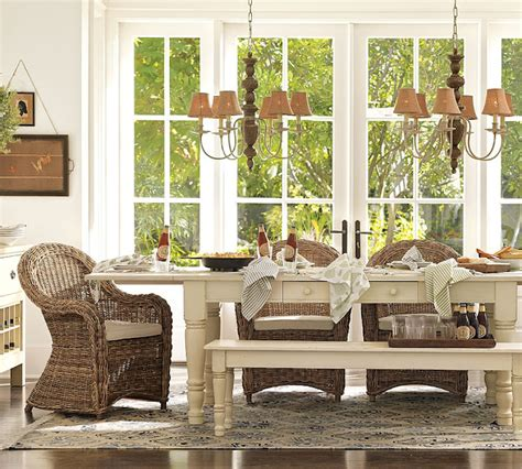 Pottery Barn Farmhouse Chairs by Seven Series Wicker For The Indoors Burger