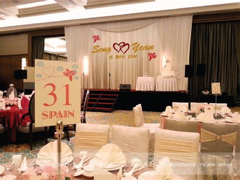travel theme wedding decoration mandarin oriental kuala