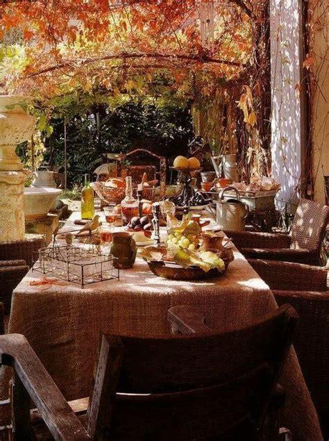 hydrangea hill cottage fall al fresco dining