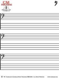 4 String Bass Blank Tab Sheets