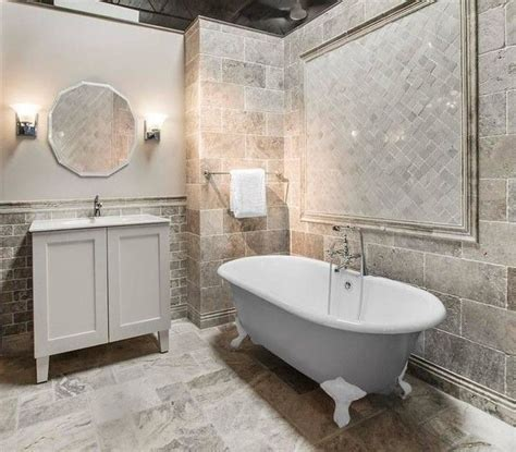 Claros Silver Travertine is the perfect greige tile for