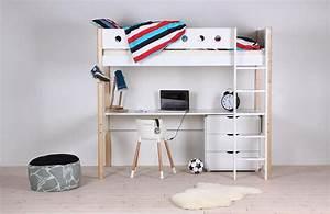 Flexa Hochbett Mit Schreibtisch Flexa Basic Trendy Hochbett Wei Mit