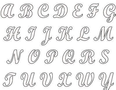 molde de letras cursiva pesquisa bordados manuais calligraphy alphabet scrapbook
