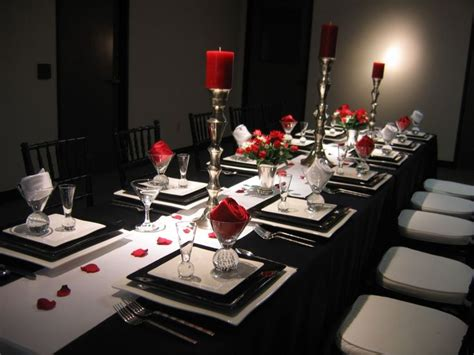 black and white dinner table setting black white and red table setting 2 dinner party