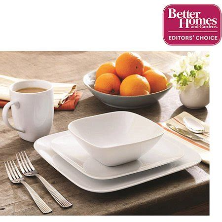 Better Homes And Garden Dishes by Better Homes And Gardens Soft Square Porcelain 16