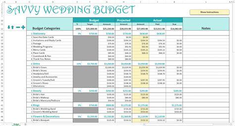 wedding budget template excel savvy wedding budget excel calendar savvy spreadsheets