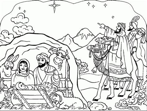 printable nativity coloring pages  kids  coloring pages  kids