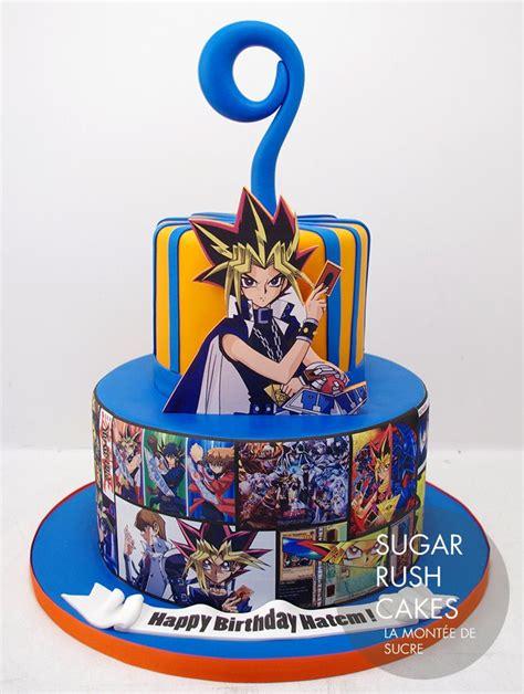 gi yu oh cake birthday cakes anime custom boys sugarrushcakes parties