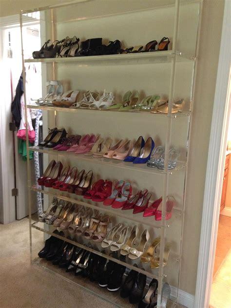 custom  lucite shoe rack shoe organization closet