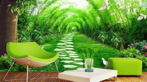 desain wallpaper diding rumah motif hutan  youtube