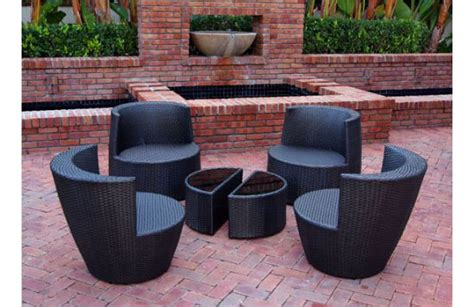 six stackable all weather modern outdoor balcony