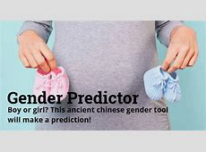 Chinese Gender Predictor JustParents