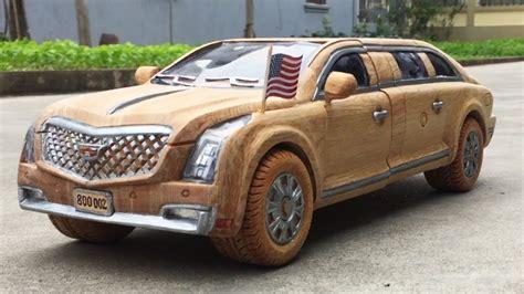 wood carving cadillac sedan  woodworking art youtube