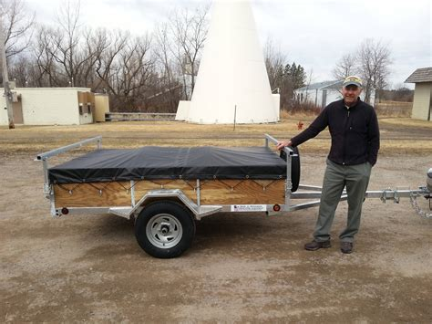 Canoes Trailers by Minnesota Canoe Trailer Up Remackel Trailers