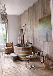 Interior cheerful modern wooden bathroom decoration using for Bathroom in the woods