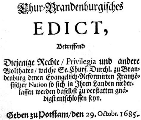 rbb Preußen-Chronik   Bild: Das Edikt von Potsdam