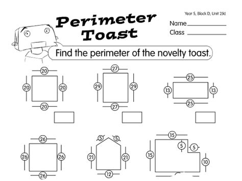 toast perimeter a year 5 perimeter area worksheet