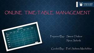 Online Time Table Management System